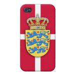 Caso danés del iPhone del escudo de armas iPhone 4/4S Carcasa