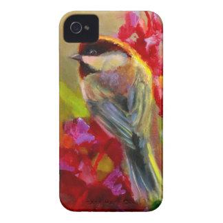 Caso de Alaska del iPhone del Chickadee y del iPhone 4 Case-Mate Carcasas
