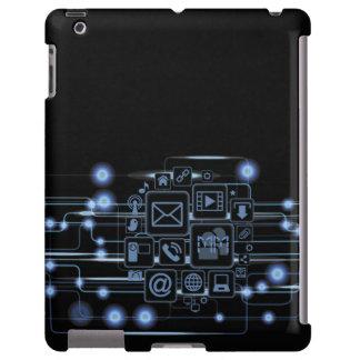 Caso de alta tecnología del iPad de las iniciales