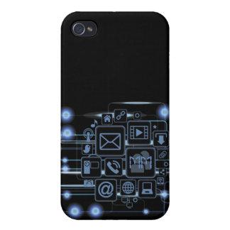 Caso de alta tecnología del iPhone 4 de las inicia iPhone 4 Funda