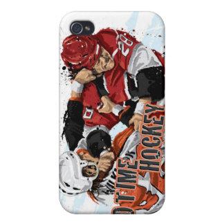 Caso de antaño del iPhone 4 del hockey iPhone 4 Fundas