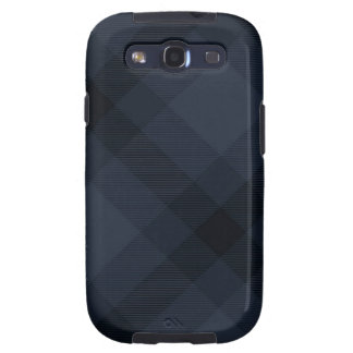 Caso de Argyle Samsung III del tartán del azul y d Galaxy SIII Cárcasas