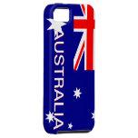 Caso de Australia Iphone 5 del rojo azul y del bla iPhone 5 Funda