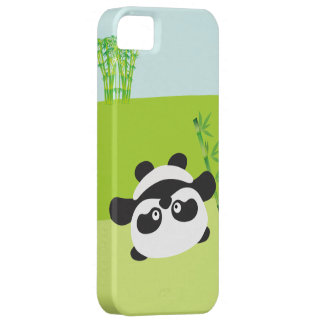 Caso de bambú del iPhone de la panda iPhone 5 Carcasas
