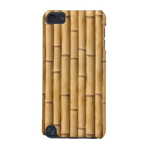 Caso de bambú del tacto de iPod