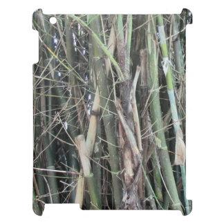 Caso de bambú elevado del iPad