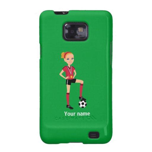 Caso de Barely There del fútbol del chica Samsung Galaxy SII Carcasa