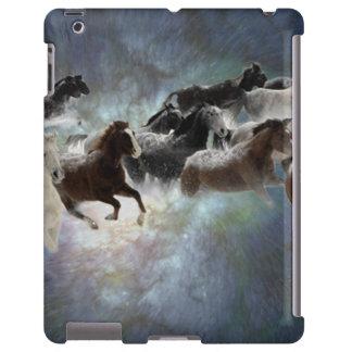 Caso de Barely There del iPad de los caballos salv
