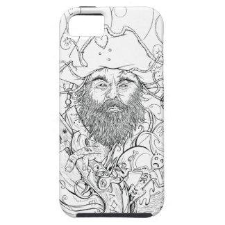 Caso de Blackbeard iphone5 iPhone 5 Protectores