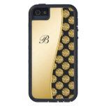 Caso de Bling del iPhone 5 del monograma iPhone 5 Case-Mate Carcasa