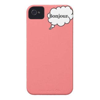 Caso de Bonjour hola - Iphone 4 iPhone 4 Case-Mate Coberturas
