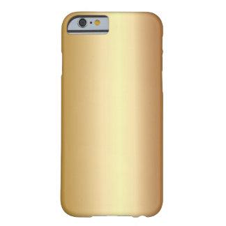Caso de bronce elegante del iPhone 6 de la mirada Funda De iPhone 6 Barely There