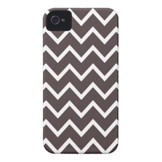 Caso de Brown Chevron Iphone 4S de la carne asada  iPhone 4 Case-Mate Funda