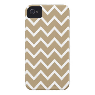 Caso de Brown Chevron Iphone 4S de las estrellas d iPhone 4 Case-Mate Fundas