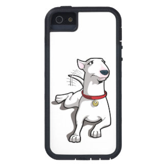 Caso de bull terrier del dibujo animado iPhone 5 carcasas