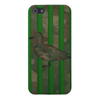 Caso de Camo Iphone 5 del pato del pato silvestre iPhone 5 Carcasas