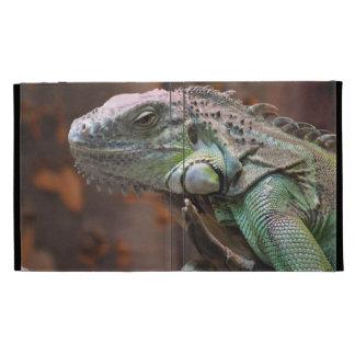 Caso de Caseable IPad con el lagarto de la iguana