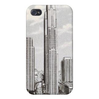 Caso de centro del iphone 4 de Nueva York Rockefel iPhone 4 Carcasa