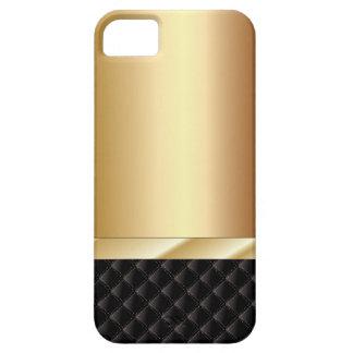 Caso de Champán del iPhone de lujo 5 del negro y iPhone 5 Fundas