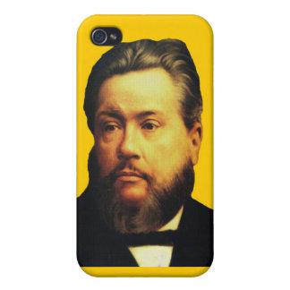 Caso de Charles H. Spurgeon iPhone4 en amarillo iPhone 4 Protectores