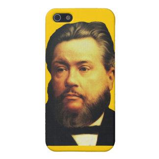 Caso de Charles H. Spurgeon iPhone4 en amarillo iPhone 5 Carcasas
