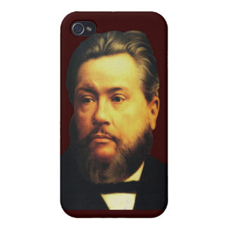 Caso de Charles H Spurgeon iPhone4 en Brown bendec iPhone 4 Protectores