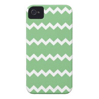 Caso de Chevron Iphone 4 4S del verde de hierba Case-Mate iPhone 4 Carcasa
