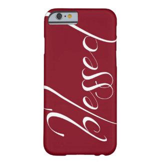 Caso de color rojo oscuro bendecido del iPhone 6 Funda De iPhone 6 Barely There