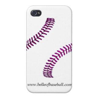 Caso de costura del iPhone del béisbol femenino y  iPhone 4 Carcasas