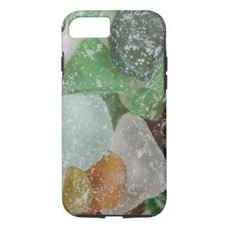 Caso de cristal 2 del iPhone de la playa de Sandy Funda iPhone 7