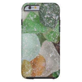 Caso de cristal 2 del iPhone de la playa de Sandy Funda Para iPhone 6 Tough