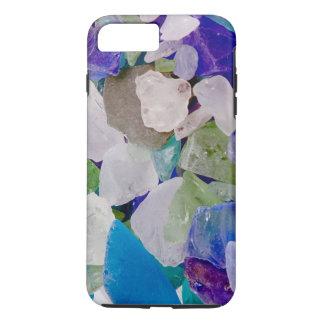 Caso de cristal del iPhone 6 del mar de la violeta Funda iPhone 7 Plus