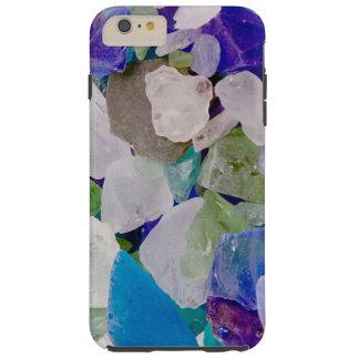 Caso de cristal del iPhone 6 del mar de la violeta Funda Resistente iPhone 6 Plus