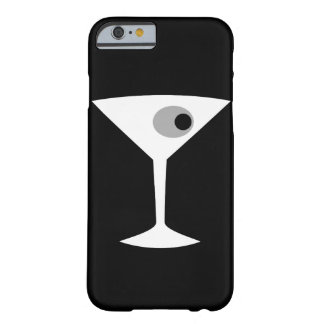 Caso de cristal Noir del iPhone 6 de Martini de la Funda Para iPhone 6 Barely There