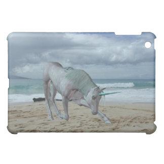 Caso de cuernos del iPad del unicornio