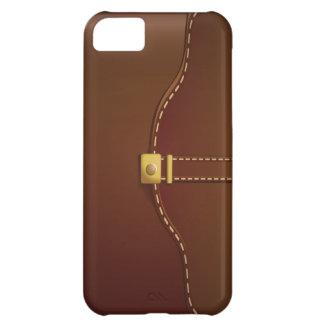 Caso de cuero con clase del iPhone 5 de la mirada  Funda Para iPhone 5C