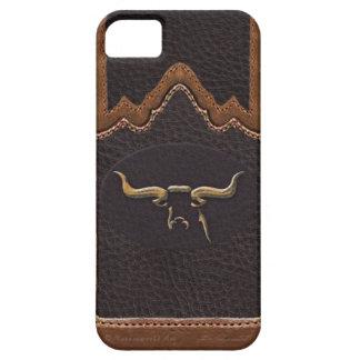 Caso de cuero iPhone5 de Sim de la foto del fonolo iPhone 5 Case-Mate Carcasa