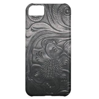 Caso de cuero occidental del iPhone 5 de la impres