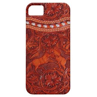 caso de cuero occidental del iphone 5 del mustango iPhone 5 carcasa