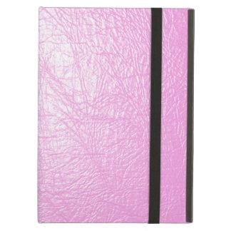 caso de cuero rosado del ipad de la textura con el