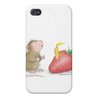 Caso de Designs® IPHONE 4 del Casa-Ratón iPhone 4 Protector