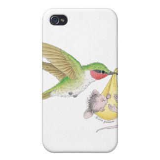 Caso de Designs® IPHONE 4 del Casa-Ratón iPhone 4 Cárcasas