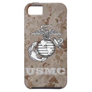 Caso de Digitaces Camo del desierto (USMC) iPhone 5 Carcasa