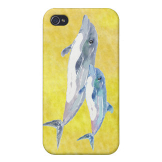 Caso de dos iPhone 4 de los delfínes, de la mamá y iPhone 4/4S Funda