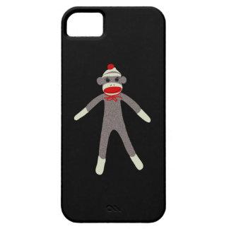 Caso de Droid del mono del calcetín iPhone 5 Fundas