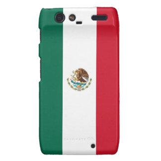 Caso de Droid RAZR con la bandera de México Funda Para Droid RAZR
