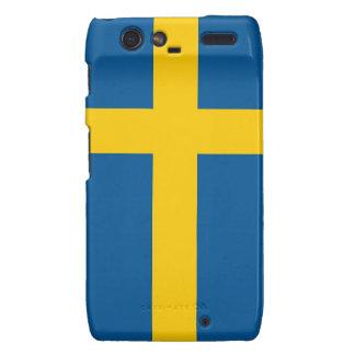 Caso de Droid RAZR con la bandera de Suecia Droid RAZR Carcasas