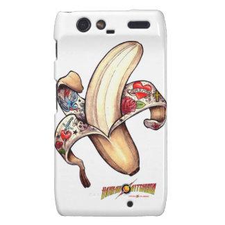 Caso de Droid Razr del plátano de Hannah Motorola Droid RAZR Carcasa