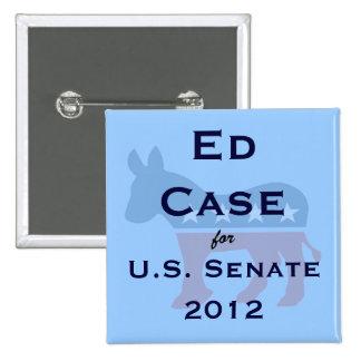 Caso de Ed para el botón del senado de los E.E.U.U Pin