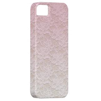 Caso de encaje rosado femenino del iPhone 5 del iPhone 5 Carcasa